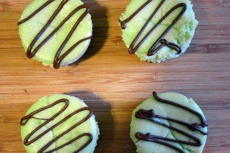 St Patrick's Day Mint mini cheesecakes 3