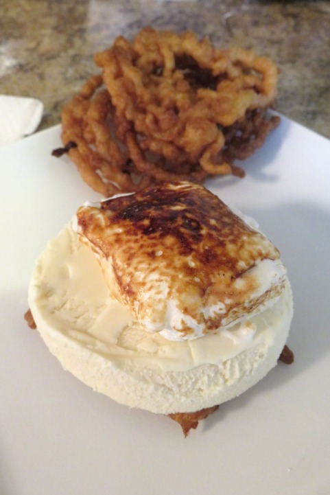Funnel Cake Marshmallow Ice Cream Sandwiches